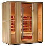 BagnoItalia Sauna a Infrarossi cm 175x120 in legno hemlock 4 posti cromoterapia profumoterapia radio I