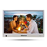 XElectron 12 inch IPS Digital Photo Frame/Video Frame with Motion Sensor, 1080P Resolution Plays Images, Video & Music, USB/SD Card Slot, with Remote (White)