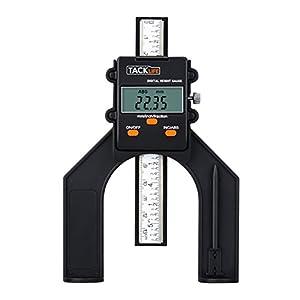Tacklife MDG01 Medidor de Profundidad 80 mm, Indicador de Profundidad y Altura con Pantalla Digital LCD para la carpintería, tabla de enrutador, máquina hecha, DIY casero, etc.