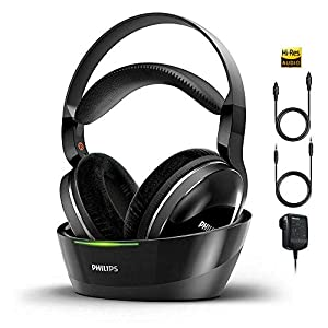 PHILIPS Wireless Headphones for TV Watching Over Ear Stereo Headset High Resolution Home Cinema Sound Audio 2.4GHz