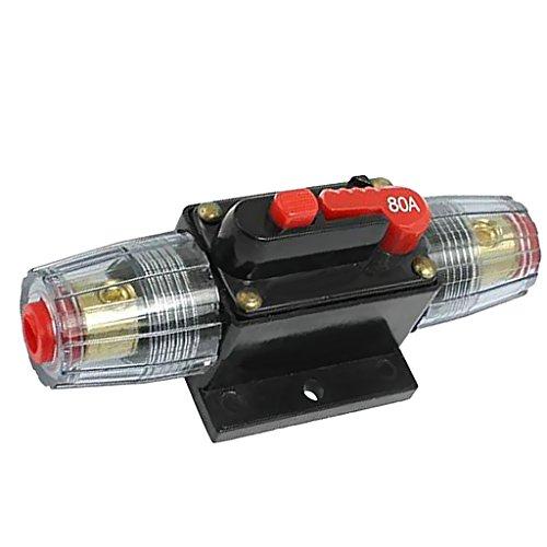 Almencla 2 x Solarbetriebssystem Wasserdicht Automatischer Schalter aus Linie der Sicherung 80A