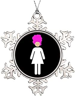 Christmas gift Drag Queen Home Funny Snowflake Ornaments Pewter Novelty Funny Decorations for Tree for Home