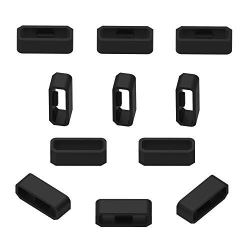 Ruentech compatible con garmin VivoSmart HR/HR + silicona anillo de cierre conector cierre seguridad banda Keeper, color Pack of 10