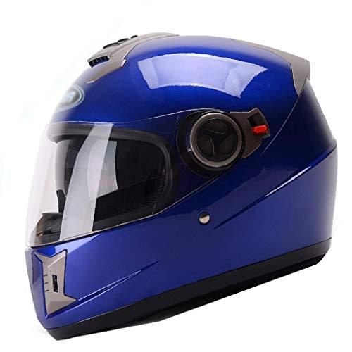 YINUO-Casque Casque de moto électrique Casque intégral de mode unisexe Hiver Casque intégral anti-buée, Taille: 54-61cm) (Color : 3)