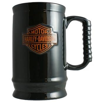 HD Harley-Davidson 24-Ounce Black Bar & Shield Stein