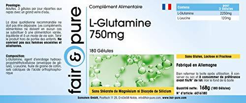 Fair & Pure L-Glutamin 700mg, 180 Kapseln - 5