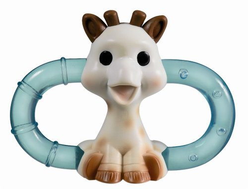 Sophie The Giraffe Podwójny pierścień do ząbkowania lodu w opakowaniu blister (wielobarwny)