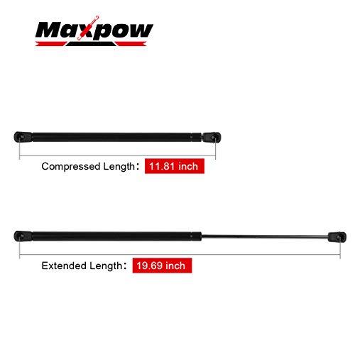 Maxpow C16-08260 19.7inch 60 lbs Gas Prop//Strut Lift Support Camper Shell Cap Topper Snugtop Tonneau Leer Cover