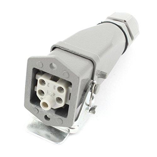 sourcingmap® PG11 HDC-HA 4+PE 5 Perno rettangolare impermeabile connettore industriale AC 230/400V