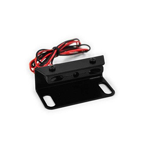 Mini LED Kennzeichenbeleuchtung mit Halter für Kennzeichenhalter Kennzeichenträger Nummernschild Halter/Halteplatte Universal Motorrad