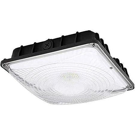 HYPERIKON LED Outdoor Canopy Light Fixture 70W 5000K CRI 84 UL DLC 4-Pack