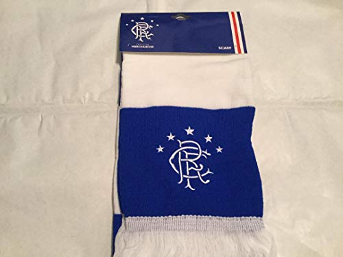 Official GLASGOW RANGERS royal blue and white bar scarf limited stock