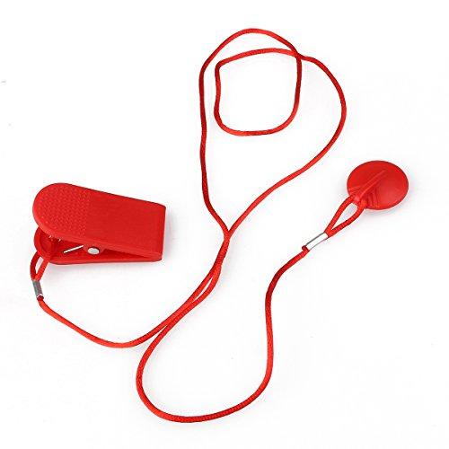 WINOMO magnética Cinta de Correr Correr Eléctrica Llaves de Seguridad Seguridad para Interruptor–2,3cm diámetro (Rojo)