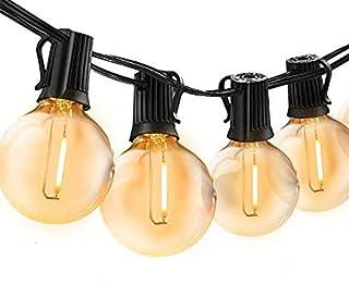 Guirlande Lumineuse Intérieur Exterieur,Bomcosy LED Guirlande Lumière Exterieur avec 50 ampoules 30M IP45 Guirlande Guingu...