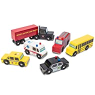 Le Toy Van New York Car Set Premium Wooden Toys for Kids Ages 3 Years & Up