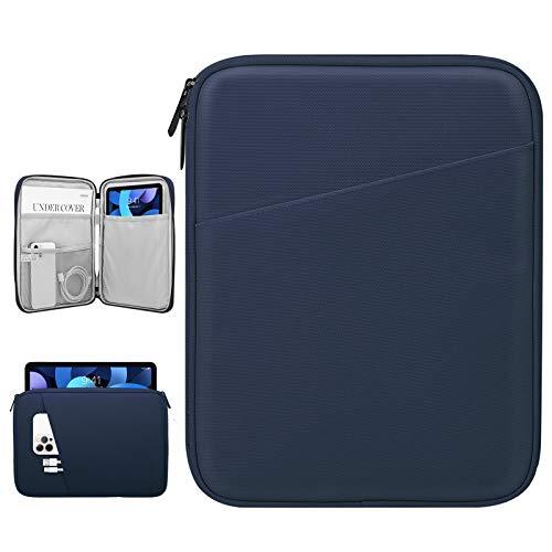 Dadanism 9-11 Zoll Tablet Sleeve Tasche Kompatibel mit iPad 10,2 2021-2019, iPad Pro 11 2018-2021, iPad Air 4 10,9 2020, Galaxy Tab A7 10,4 / Tab S6 Lite 10,4, Wasserdicht Tablette Schutzhülle, Indigo