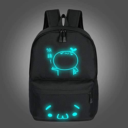 SHUX Schulrucksäcke für Teenager Mädchen leuchtende Cartoon Tasche Schultasche Tasche für Jugendliche Student süße Katze Rucksack, 3