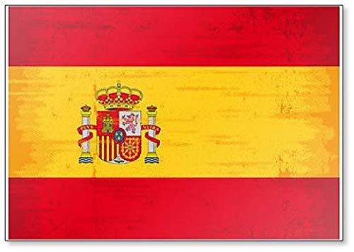 Imán para nevera con diseño de la bandera de España