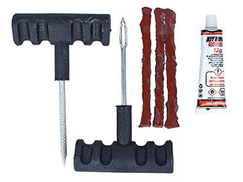 CARALL Kit de réparation de pneus de Moto, de Voiture et de vélo, Outils de réparation de pneus, pour la réparation de crevaisons