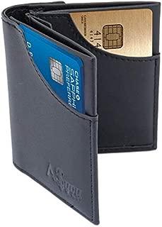 Slim Men's Wallet RFID Blocking Compact Front and Back Pocket Leather Card Holder