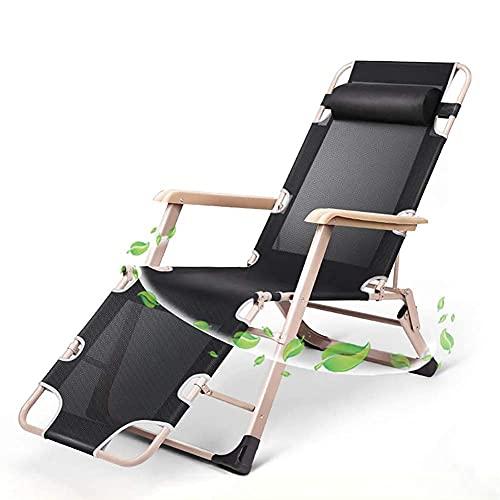FVGBHN Tumbona reclinable, tumbona plegable gravedad, para patio, jardín, camping, picnic, playa, asiento cómodo al aire libre, un