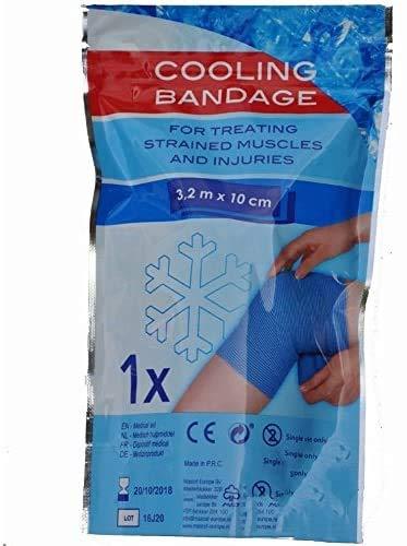 DRULINE Kühlbinde Kühl Verband Kühl Bandage Sportbandage Eisverband EIS Verband