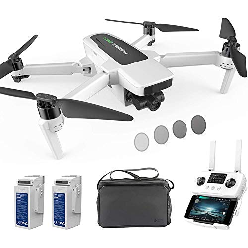 Drone Avec caméra UHD 4K-60fps Drone RC GPS 10KM FPV Avec cardan 3 Axes détachable, Mode sans tête de vol 39 Minutes, Mode de sécurité Basse consommation (Deux Piles et sac)