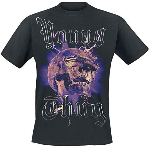 Young Thug Snake Skull Männer T-Shirt schwarz M 100% Baumwolle Band-Merch, Bands