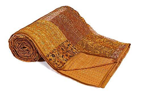 DN Handicraft Colcha Kantha hecha a mano de mandala con costura a mano