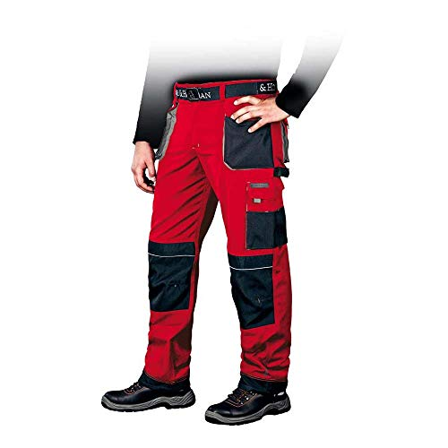 Leber&Hollman LH-FMN-T_CBS50 Formen Schutzhose, Rot-Schwarz-Grau, 50 Größe