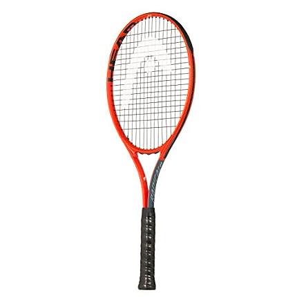 Head Radical 27 - Raqueta de Tenis para Adultos, Unisex Adulto, Raqueta de Tenis, 232909S40, Gris y Naranja, Grip 4: 4 1/2 Inch