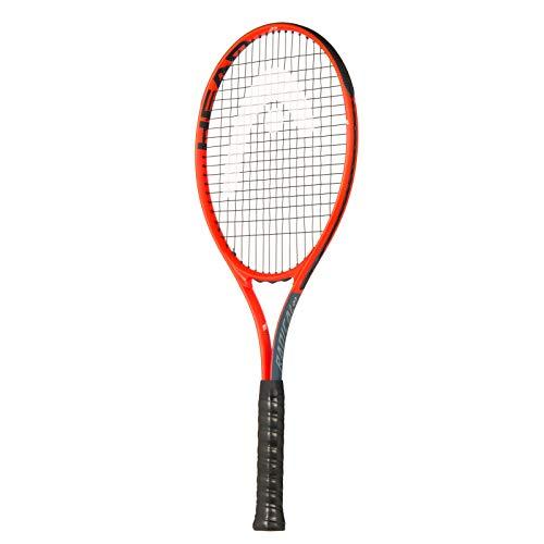 Head Radical 27 - Raqueta de Tenis para Adultos, Unisex Adulto, Raqueta de Tenis, 232909S20, Gris y Naranja, Grip 2: 4 1/4 Inch