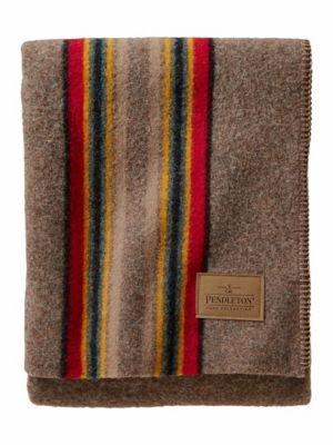Pendleton Yakima Camp Wool Throw Blanket, Mineral Umber, One Size