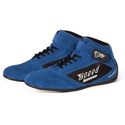 Speed Kartschuhe Milan KS-2 -Premium Kart Schuhe - Diverse Farben (Blau, 44)