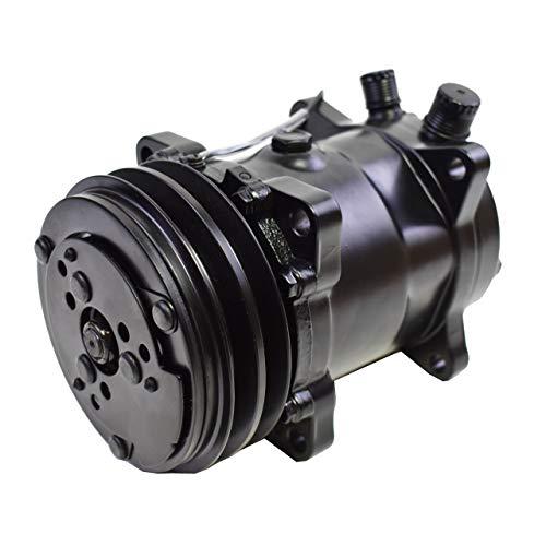 A-Team Performance Sanden 508 Style Black Clutch V-Belt Universal Air Condition AC Compressor, Black