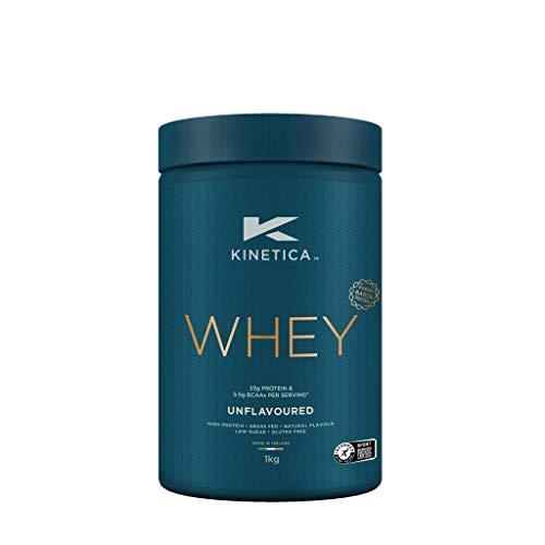 Kinetica Whey Protein in polvere, 33 dosi, non aromatizzato, 1 kg. Basso contenuto di carboidrati, siero proveniente da allevamento al pascolo