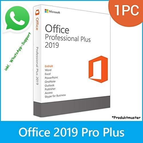 MS Office 2019 Professional Plus LIZENZ KEY - POSTBRIEF-VERSAND - 32 & 64 Bit - 1 Aktivierung / 1 PC + Anleitung von U-S-B Unleashed-Shop-Bolt®