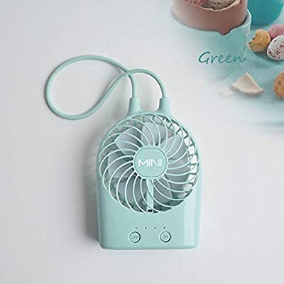 DeemoShop Summer New USB Rechargeable Cute Mini Fan Desktop Electric Small Portable Handheld USB Electric Mini Hand