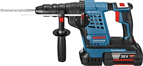 Bosch Professional GBH 36 VF-LI Plus Cordless Rotary Hammer Drill with Two 36 V 4.0 Ah Lithium-Ion Batteries