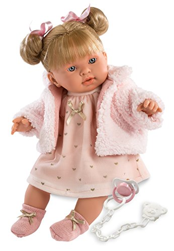 Llorens 16.5' Soft Body Crying Baby Doll Abby