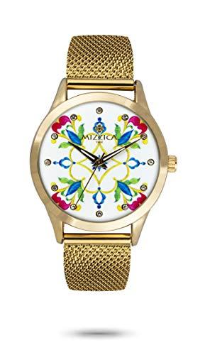 Mizzica - Reloj de mujer Time I, puntal de acero, malla Milano...