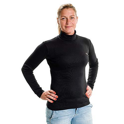 Back on Track Bekleidung Rollkragensweatshirt sous-Pull à Manches Longues et col roulé pour Femme Noir