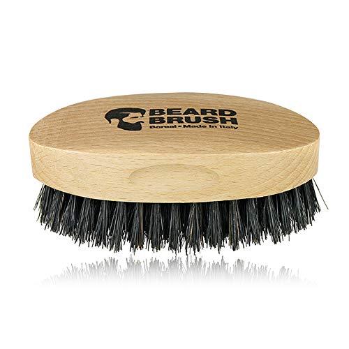 Cepillo para barba hecho en madera de haya y cerdas de jabalí 100% naturales. 100% made in Italy.