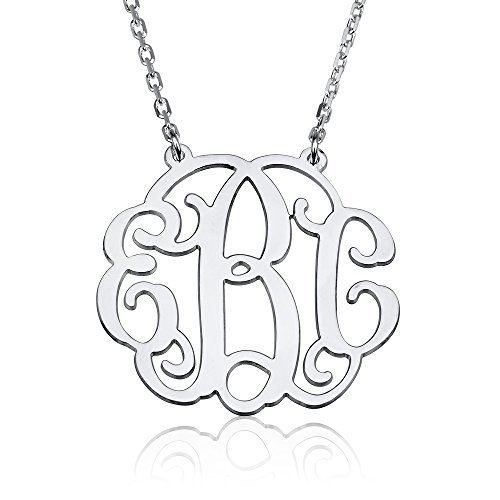 Sterling Silver Personalized Monogram Necklace