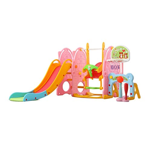 QIQIQIQI 7 in 1 Climber Slide Playset Baby Swing, Kids Playset for Backyard and Indoor,Baby Multi-Function Slide,Unisex,Indoor and Outdoor Use( 1-6 Years Old Children)