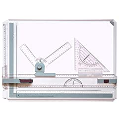 1)Only Metric Measurement Made of high quality acrylic, lightweight and durable. Ergonomic designed A3 drawing board table set. Drafting head-lock mechanism for straightedge and free-swing setting. Comes with 2 parallel rulers and 2 corner clips. 2)Q...
