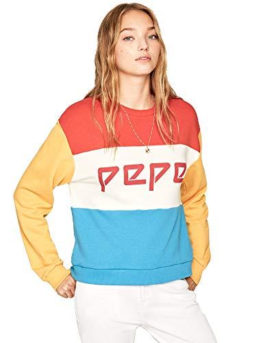 Pepe Jeans - sweatshirt PL580963 Primrose 220 Factory Red - sweatshirt zonder capuchon voor dames/meisjes