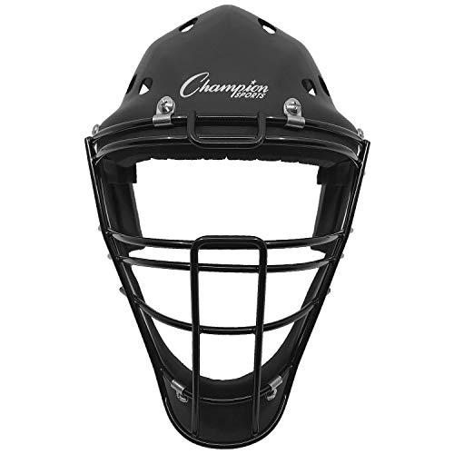 Champion Sports Hockey Style Baseball Catcher's Helmet Mask, Youth, Black