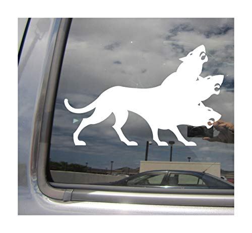 Right Now Decals Cerberus Hellhound - Greek Roman Mythology - Cars Trucks Moped Helmet Hard Hat Auto Automotive Craft Laptop Vinyl Decal Store Window Wall Sticker 06016