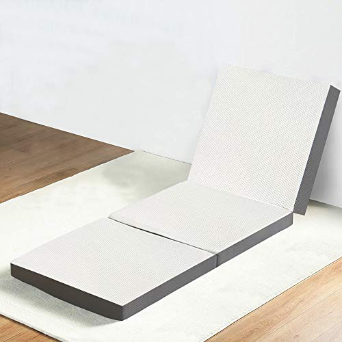"Mayton Folding Mattress, 3-Inch Memory Foam Portable Tri-fold Mattress with Ultra Soft Removable Cover 75""x25"""